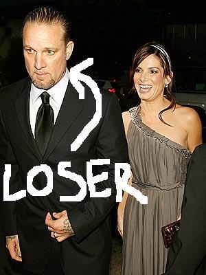 Jesse James cheated on Sadra Bullock -Loser!